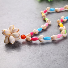 Natural sea conch necklace hand string decoration handicraft gifts birthday party decorations kids shell Childrens