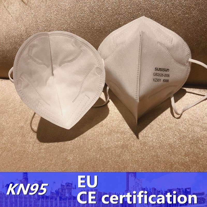 CE Certified KN95 Mask 5-layer Protection EU-FFP2 Level Masks Filtration Efficiency Masks 3D Mask For France Masken