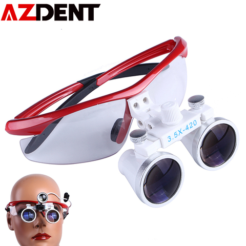 3 5x dental lupa cirurgica lupa lupa binocular com luzes led operacao medica lampada