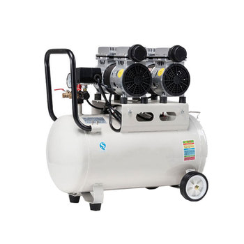 750W-1500W 7bar 8L Small Mobile Single Stage Belt Driven Piston Air Compressor Quiet Air Pump with Tank for air gun Spraying