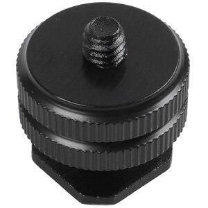 Прочный Pro 1/4 крепление адаптер F резьбовой штатив Sled Вспышка Горячий башмак черный