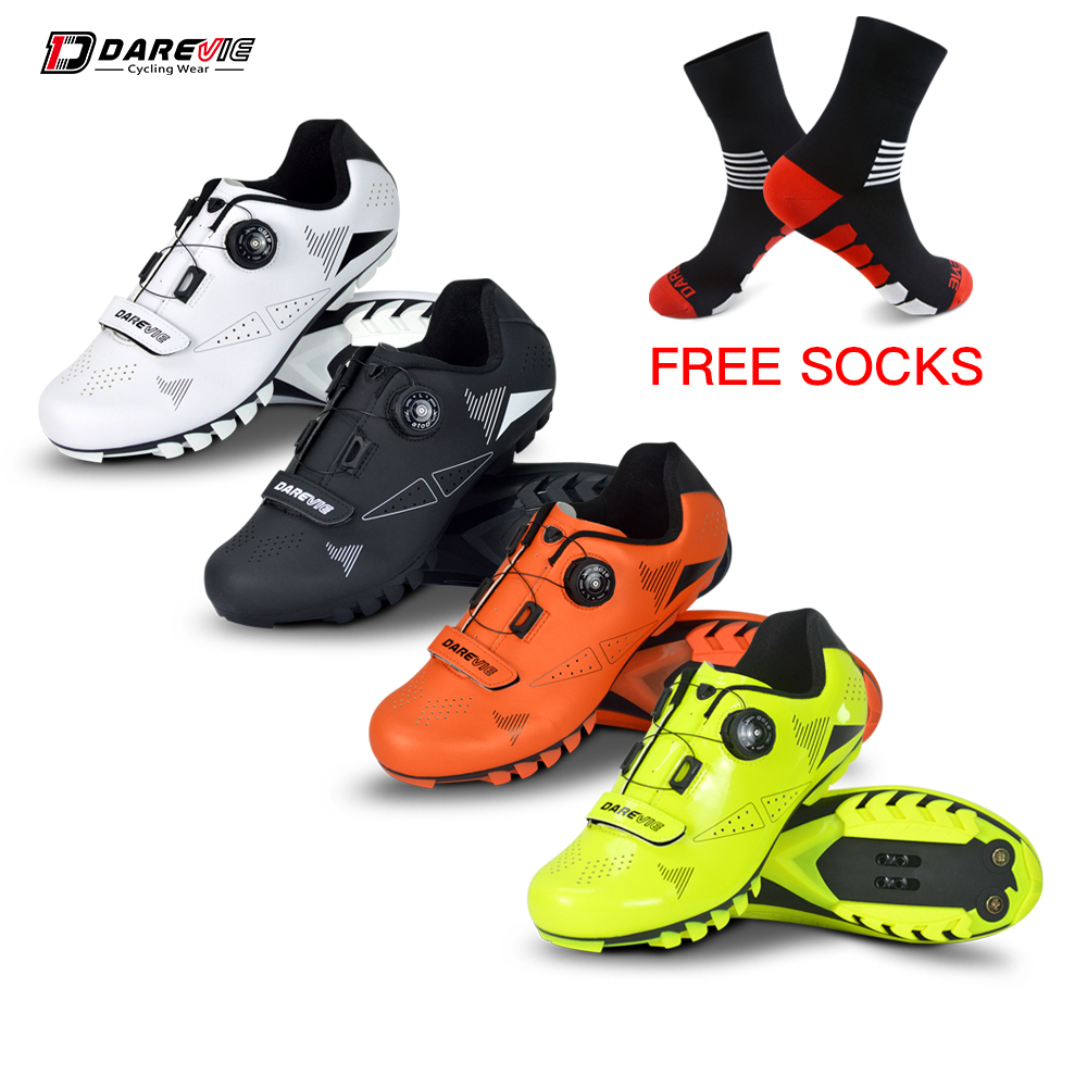 Darevie 2019 chaussures de cyclisme vtt VTT chaussures de cyclisme hommes femmes chaussures de cyclisme bottes de vélo chaussures de vélo SPD