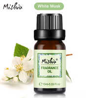 Mishiu White Musk Natural Fragrance Oil Sea Breeze Lime Coconut&Vanilla Mandarin Oil For Diffuser Aromatherapy Humidifier 10ML
