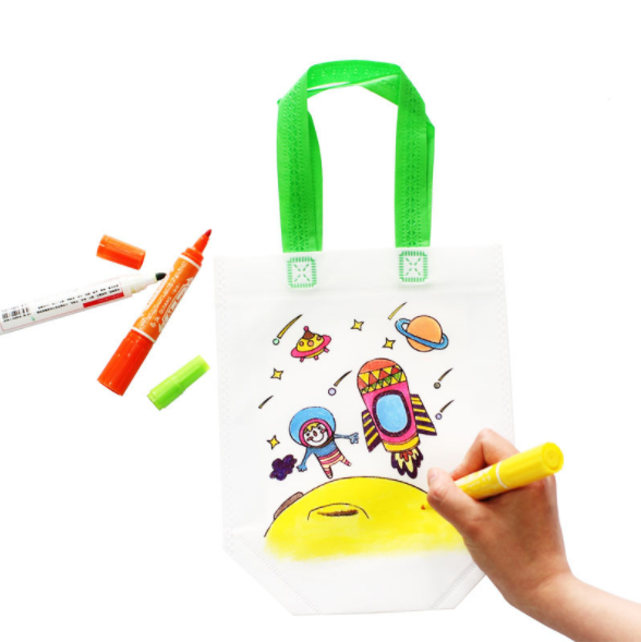 1 pcs Kids DIY Drawing Craft Color Bag Children Learning Educational Drawing Toys with Safe Watercolor pen for Baby Gifts