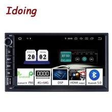 """Idoing 7 """"PX6 Universal 2 DIN Android DSP วิทยุเครื่องเล่นวิดีโอมัลติมีเดียบลูทูธ 5.0 HDMI OUT GPS นำทาง 4G + 64G NO DVD"""