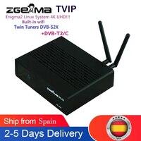 ZGEMMA H9.2H 4K UHD DVB-S2/DVB-C/T2 H.265 Enigma2 Linux 4.1 System DVB Decoder Satellite TV Receiver mit ultraschnellen Quad-Core