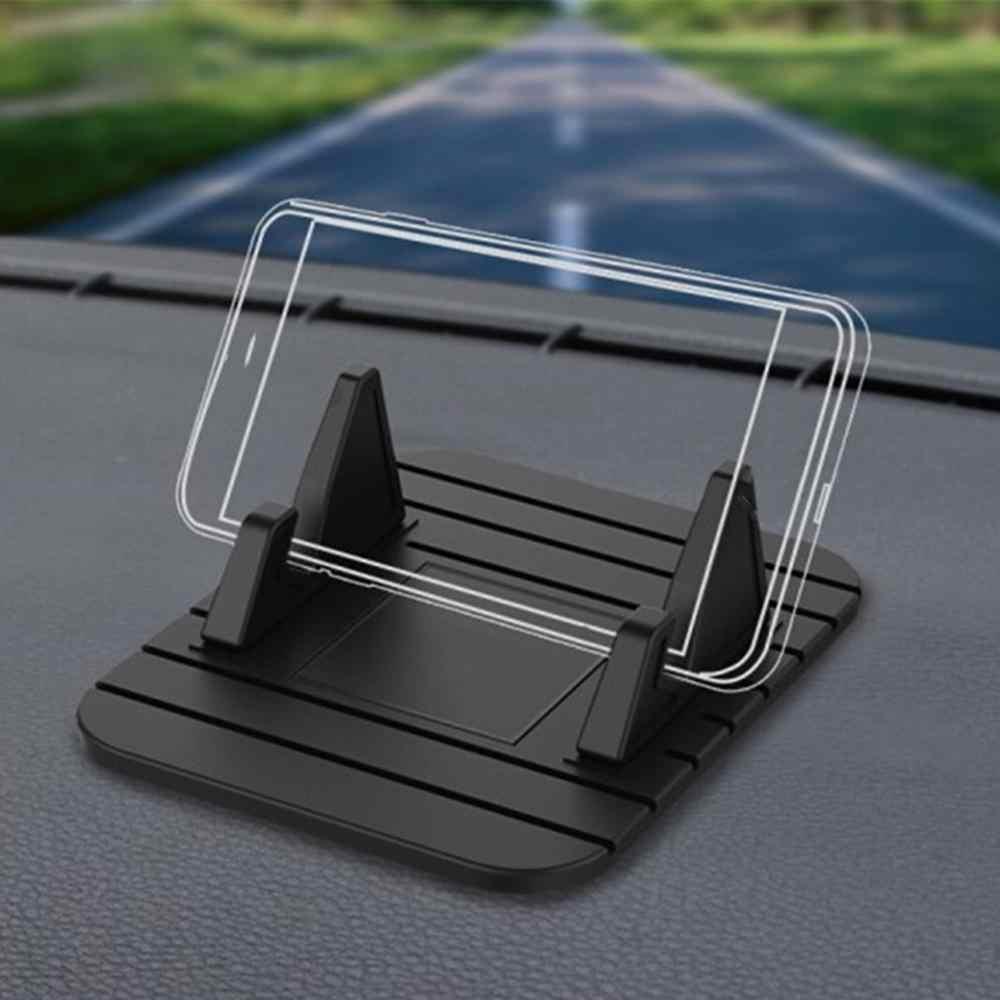 Bantalan Silikon Non-slip Universal Dudukan Telepon Mobil Dashboard Mat Cell Phone Holder Cradle Dock untuk Semua Smart ponsel