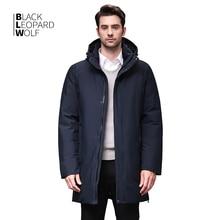 Blackleopardwolf 2019 Winter Men Coat Detachable Hood Warm Jacket Cotton Padded Winter down jacket Men Clothes BL 852