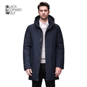 Image 1 - Blackleopardwolf 2019 Winter Men Coat Detachable Hood Warm Jacket Cotton Padded Winter down jacket Men Clothes BL 852