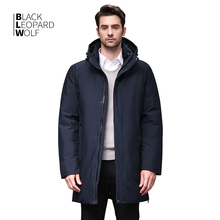 Blackleopardwolf 2019 Зимнее пальто парка съемный воротник теплая куртка подкладка из хлопка зимний пуховик мужская одежда BL 852