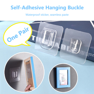 Double-sided Adhesive Wall Hooks Transparent Wall Hanger Strong Suction Cup Sucker Hook Wall Storage Holder for Kitchen Bathroom