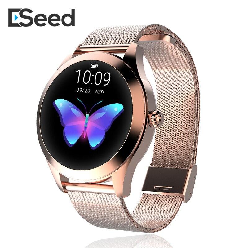 ESEED KW10 montre intelligente femmes IP68 étanche surveillance de la fréquence cardiaque Bluetooth Fitness Bracelet Smartwatch pour Android IOS