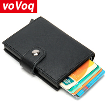 2020 Men Credit Card Holder RFID Blocking Men Wallet Automatic Hasp Male Purse Leather Bank Card Wallets Business ID Card Holder men women leather credit card holder case card holder wallet business card female wallet purse luxury clutch wallets