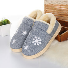 Dropshipping Winter Warm Ful Men Slippers Cotton Sheep Lovers Home Slippers Indoor Plush Size House Shoes Woman Wholesale(China)