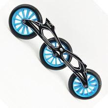 3x125mm skate powerslide quadro 85a roda ILQ-11 rolamento inline velocidade patinação base maratona corrida apto para 165-195mm botas dj69