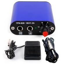 Hot Tattoo Mini Tattoo Power Supply + Foot Pedal + Clip Cord for Machine Gun Kit P162 Tattoo Mini Power Supply Tattoo Supplies mbr cell power foot