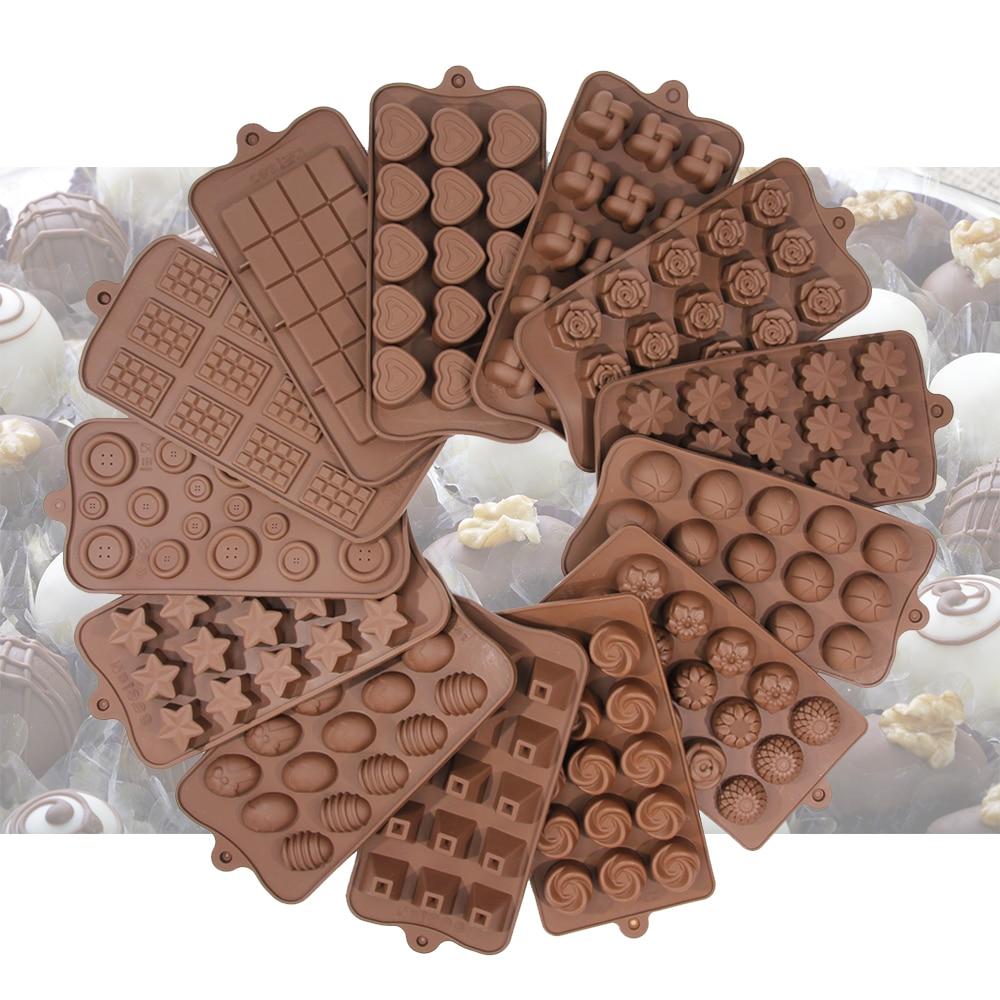 שוקולד עובש סיליקון אפיית כלי שאינו מקל כלי בישול ג 'לי פונדנט 3D סוכריות עובש DIY ביצוע עוגת דקור כלים מטבח
