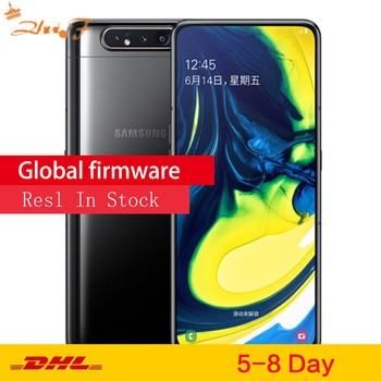 Перейти на Алиэкспресс и купить Смартфон samsung Galaxy A80 A8050, 6,7 дюйма, дисплей бесконечности Snapdragon 730G, четыре ядра, 8 ГБ, 128 ГБ, вращающаяся камера, 48мп, мобильный телефон