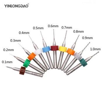 цена на 10PCS CNC woodworking tools,PCB drill bits 0.3-1.2mm, tungsten carbide micro mini drill,  drilling glass,Cutters for CNC