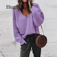 2020 Sexy V-neck Knitted Sweaters Women Fashion Long Sleeve Casual Tops Autumn Winter Sweaters ronnykise knitted sweaters women fashion pullovers long sleeve sexy v neck casual tops autumn and winter cashmere sweater