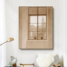 Canvas Art Oil Painting《Window-Looking-over-the-Park》Caspar David Art Poster Wall Decor Modern Home Decoration For Living room