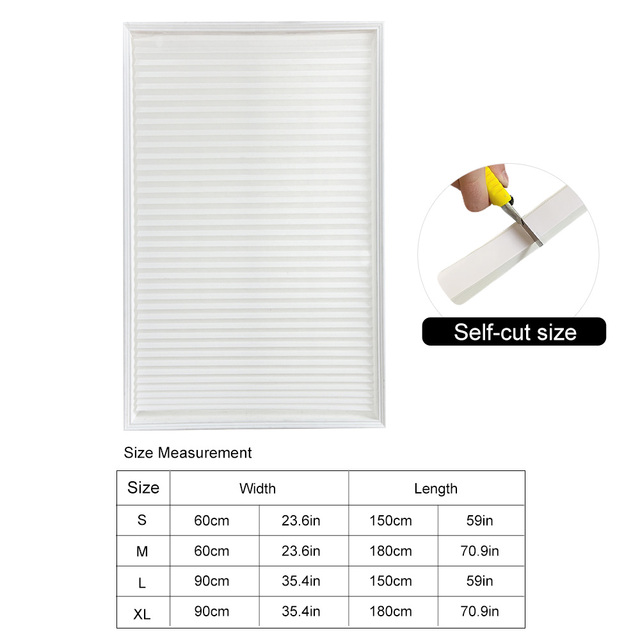 Self-Adhesive Pleated Blinds 6