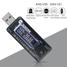 USB ток Напряжение Ёмкость Тесты er вольт тока Напряжение обнаружения Зарядное устройство Ёмкость Тесты er метр Мобильный детектор уровня мощ...