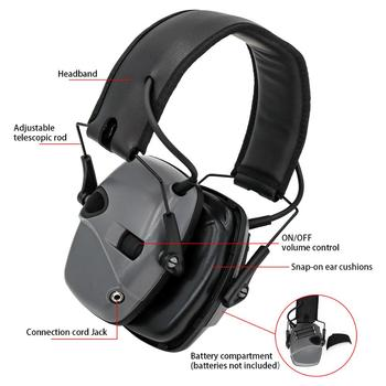 Tactical Electronic Shooting Headphones Hearing Protection Anti-noise Earmuffs Sight Sponge Earmuffs Noise-cancelling Earphones tactical headset active noise cancelling headphones shooting intelligent soundproof earmuffs pickup noise prevention