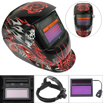 Hell Messenger Adjust Solar Auto Darkening TIG MIG Grinding Welding Helmets Face Mask Electric Welding Mask Weld Cap for Welding фото