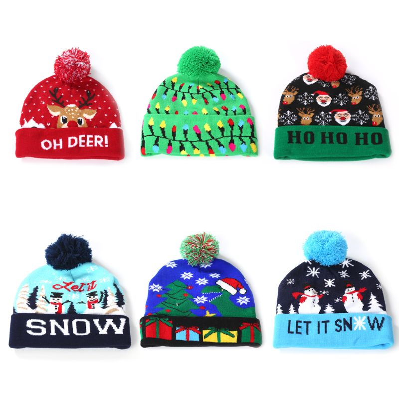 New Hot Style Deer Upgrade Fashion Hip-hop Adult Pullovers Knit Hats for Men Women