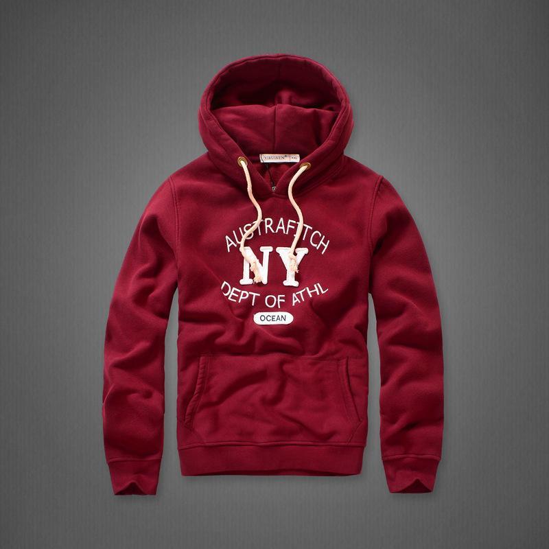 2020 new Wholesale Brand Mens Fleece Hoodies With Hat Warm Winter Coat Applique Design Fashion Sweatshirts For Men Hollistic