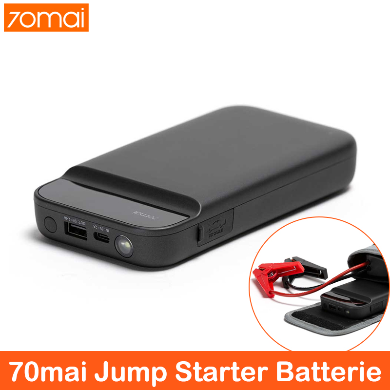 70mai Car Jump Starter Power Bank 600A Portable Car Battery Booster Charger 12V Starting Device Petrol Diesel Car Starter image