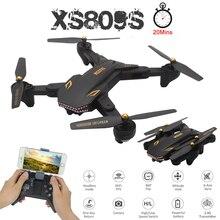 цена на VISUO Helicopter XS809S Profissional Foldable Selfie Mini Drone Camera WiFi FPV Wide Angle 2MP HD RC Quadcopter XS809HW Aircraft