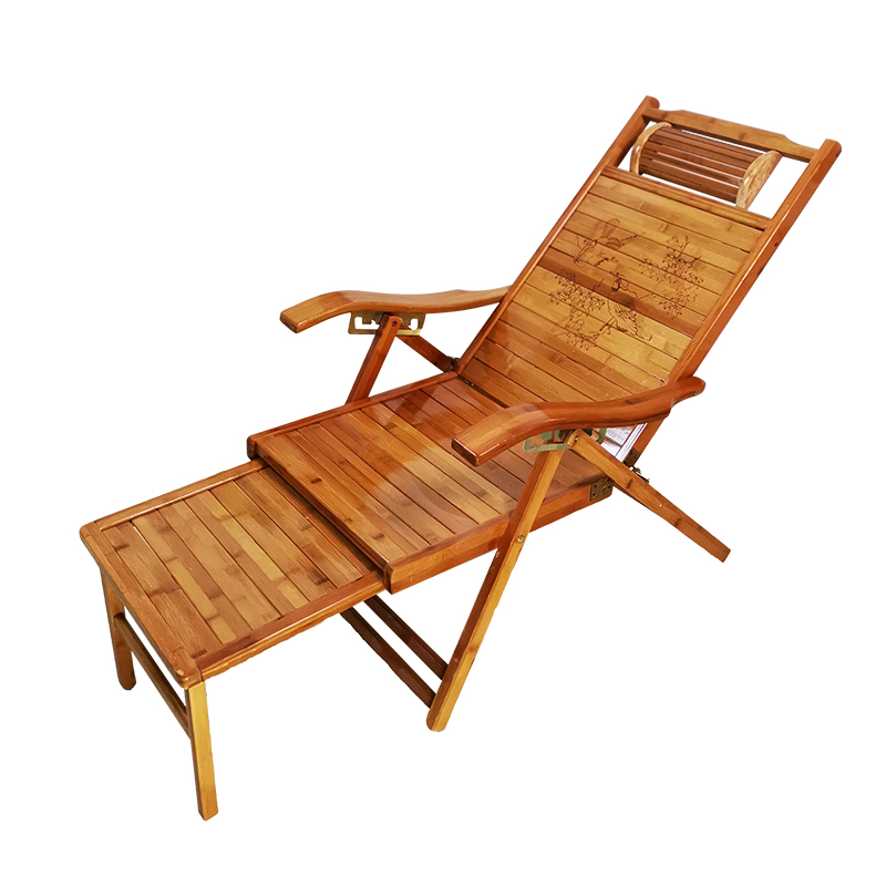 Bamboo Folding Chair Home Adult Office Balcony Lying Chair Afternoon Rest Bed Multifunctional Leisure Shaking