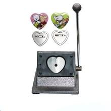 heart badge button maker 57*53MM paper cutting machine paper cutter for heart shape badge making