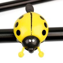 Beetle 1 Pcs Bicycle Ladybug Handlebar Sound Horn Bike Bell Alarm Cycling Ring bicycle bike handlebar ball air horn trumpet ring bell loudspeaker noise maker free shipping