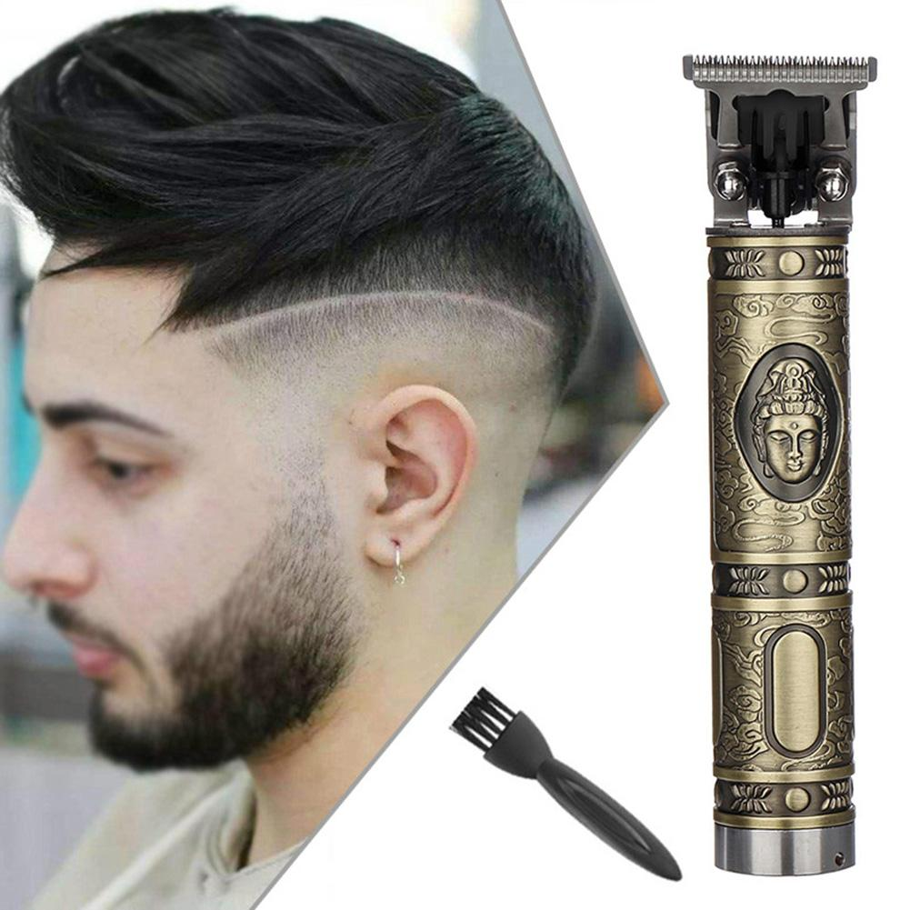 Buddha Carved Vintage Electric Rechargeable Haircut Hair Trimmer Clipper Set Hair Clipper Styling Tools