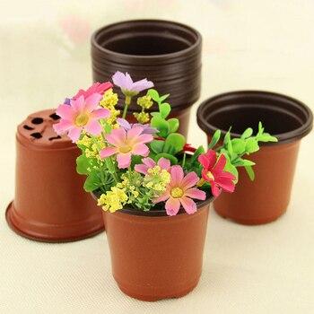 1 pcs  Soft plastic flowerpot Two-color flower pot gardening soft 90X60X80mm