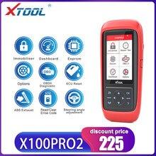 XTOOL-programador de llaves automático X100 Pro2, ajuste de kilometraje X100PRO ECU, reinicio de código, lectura de herramientas de coche, multilenguaje, actualización gratuita, escáner OBD2