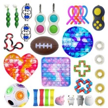 Colorful Rodent Pioneer Decompression Toy Set Children's Adult Bubble Music Decompression Toys Portfolio