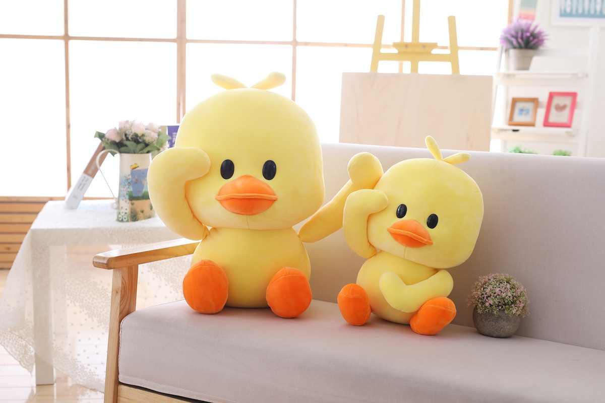 Gefüllte Ente Spielzeug Plüsch Ente Spielzeug Große Gelbe Ente Plüsch Spielzeug Kuscheltiere Kissen Plüsch Spielzeug für Geburtstag Baby Geschenk dekor Kawaii