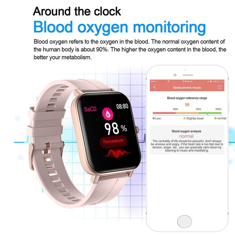 cheapest RUNDOING Smart Watch Men Full Touch Screen Blood Pressure Oxygen Women Smartwatch Message Remind Sport Watch Fitness Tracker