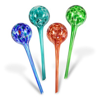 Hot XD Indoor Plant Watering Globes | Automatic Self Water Bulbs | Aqua Water Globe | Decorative Hand Blown Glass | 4Pc Deluxe S|Garden Sprinklers| |  -