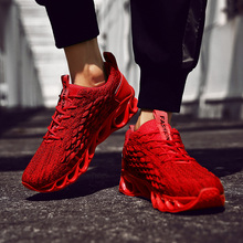 BVNOBET Mesh Men Shoes Casual Red Breathable Comfortable Summer Outdoor Walking Sneakers Lace Up Zapatilla Hombre