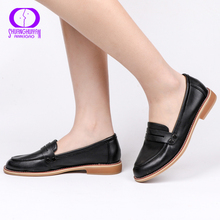 AIMEIGAO جديد ربيع الخريف المرأة عادية الشقق أحذية الانزلاق على أحذية الموكاسين كعوب منخفضة أحذية مريحة للنساء