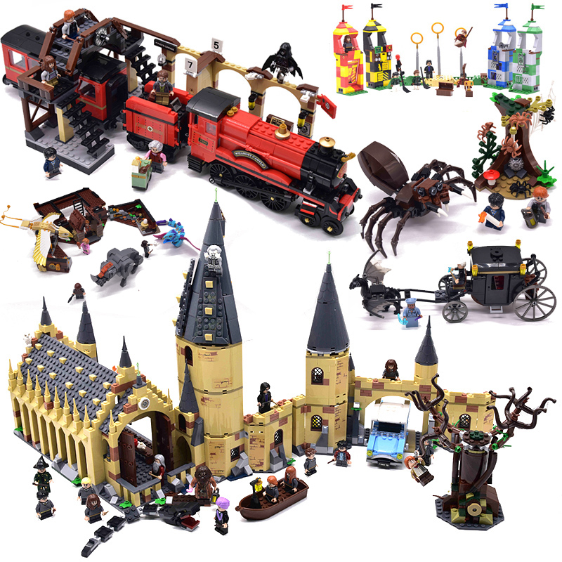 Harri Castle 926PCS CLOCK TOWER Building Blocks Toys Train Compatible With Legoinglys Magic Great Hall Gifts For Boys Children