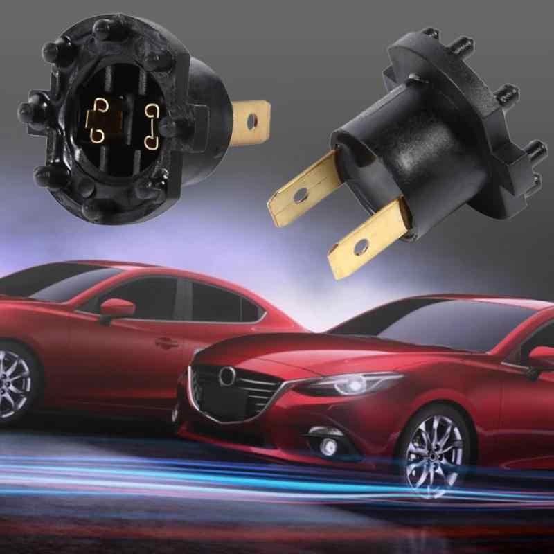 עבור מאזדה 3/5/323 קוואסאקי ER6-F פנס שקע פנס הנורה 2pcs פלסטיק ומתכת תכונות שחור מראה