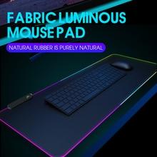 RGB Gaming Mouse Pad Computer Gamer Mousepad Large Game Rubber No-slip Mouse Mat Big Mause Pad PC Laptop Keyboard Desk Carpet