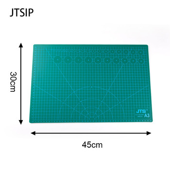 цена на JTSIP Cutting Pad PVC Double Printed Self Healing Cutting Mat Art Carving Mat Knife Cutting Paper Pads Rubber Large Carving Pads
