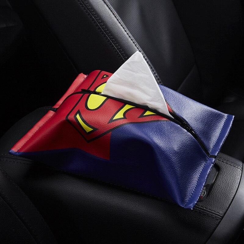 Car Tissue Box Support Customization Mini Union Flag Cartoon Car Mounted Tissue Box Cover Car Interior Trim Supplies